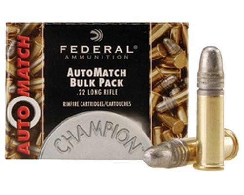 Federal Automatch Target 22lr Ammunition 40 Grain Lead